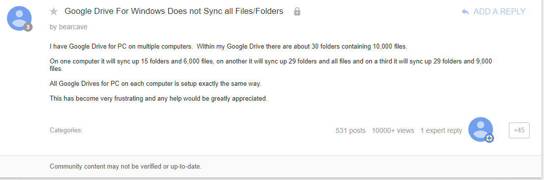 Google Drive Does Not Sync All Files | MultCloud
