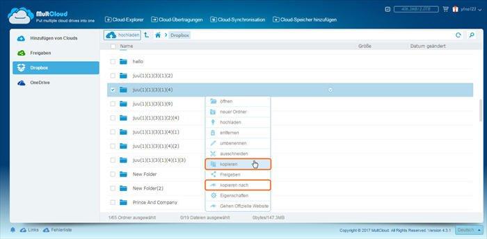 Wie Kopieren Oder Verschieben Sie Dateien Zwischen Cloud Speicher