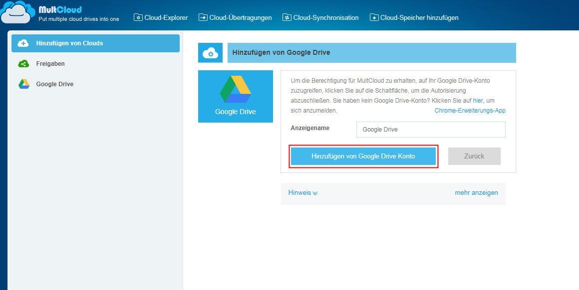 Google Drive Konto erstellen