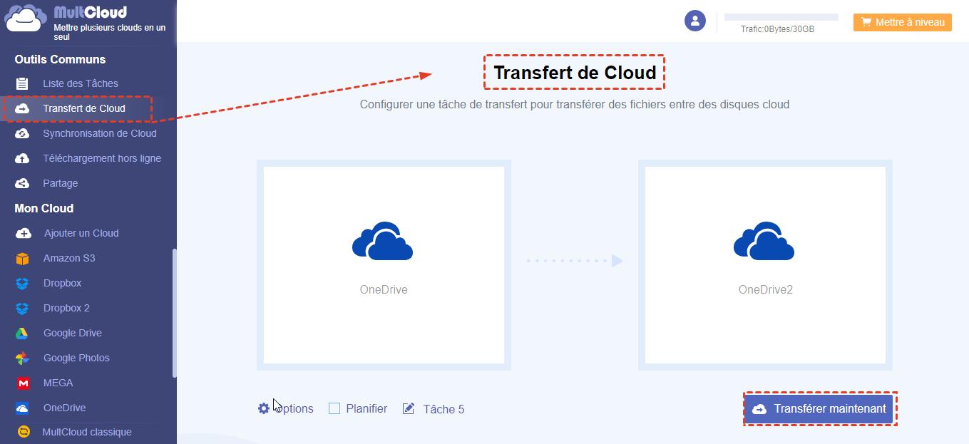Déplacer des fichiers entre des comptes OneDrive
