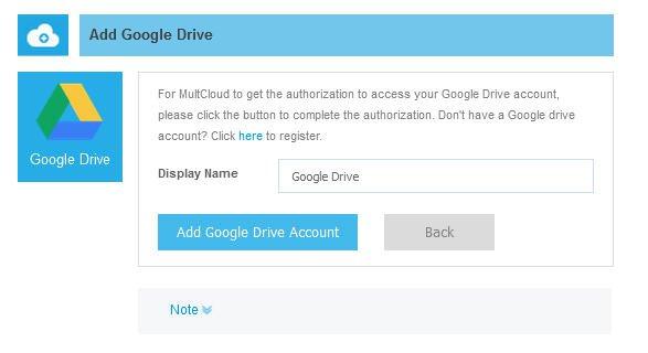 Compte de Google Drive