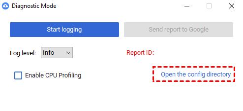 Öffnen Sie Config Directory