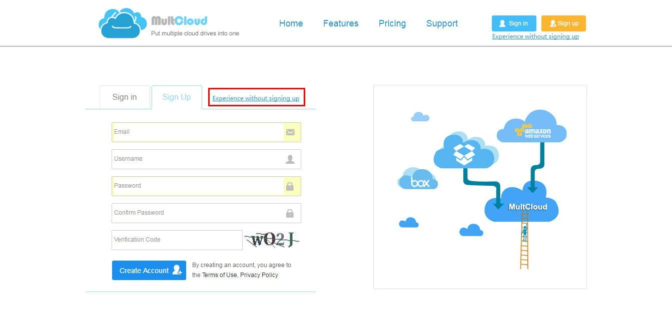 MultCloud Makes Box Sync Multiple Accounts with One Login