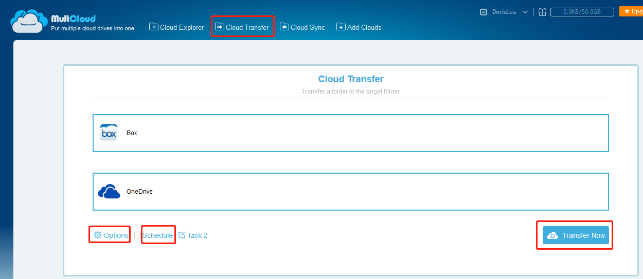 Box to OneDrive migration Tool - MultCloud