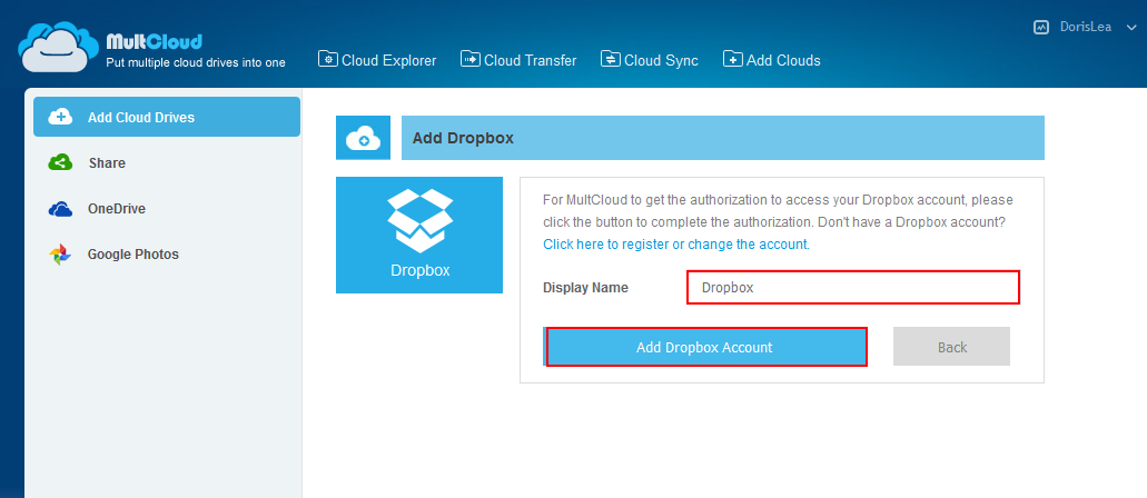 How to upload url to Dropbox? | MultCloud