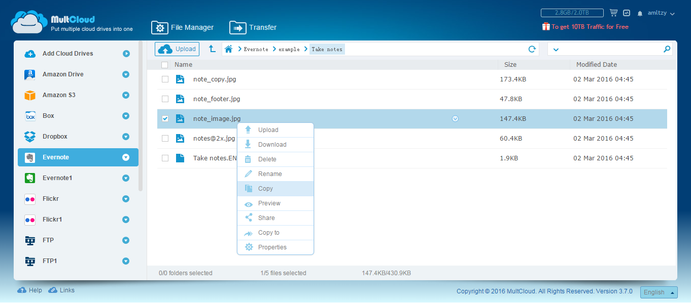 Evernote Flickr Integration, Evernote Dropbox Integration ...
