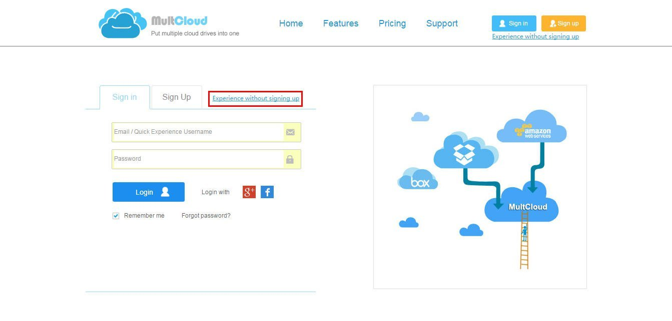 file transfer online tool multcloud first sign in or experience out signing up