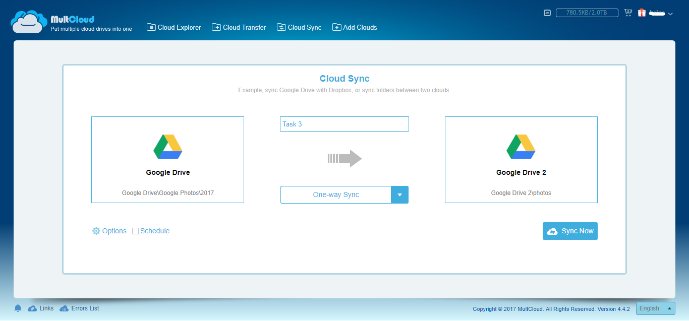 One Way File Sync Software for Google Drive Cloud Storage Sync