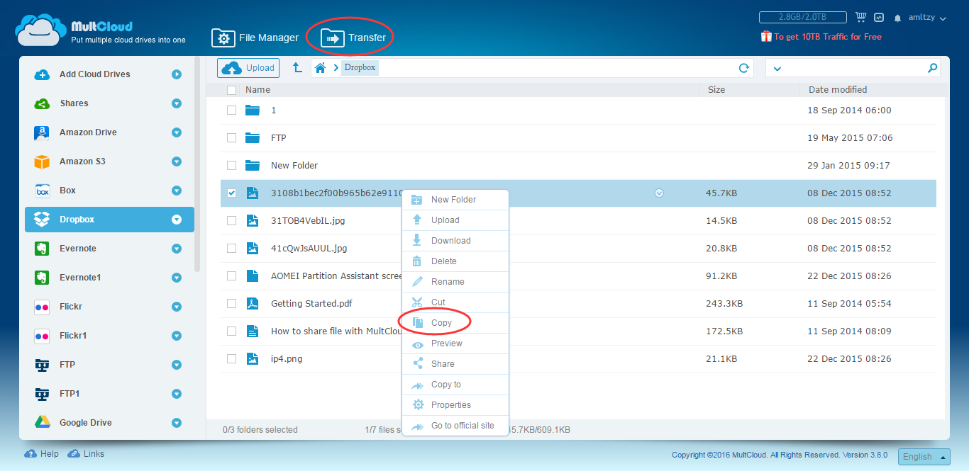 How to Transfer Files from One Dropbox Account to Another?