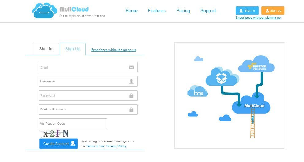 Link MEGA to Amazon Cloud Drive with MultCloud