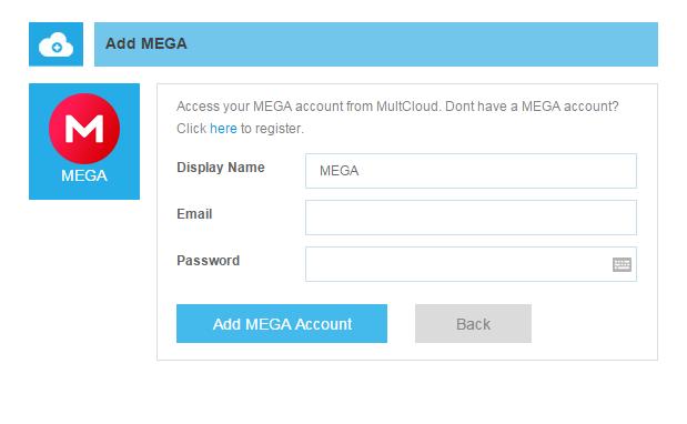 Manage Multiple MEGA Accounts, Dropbox Accounts, Google