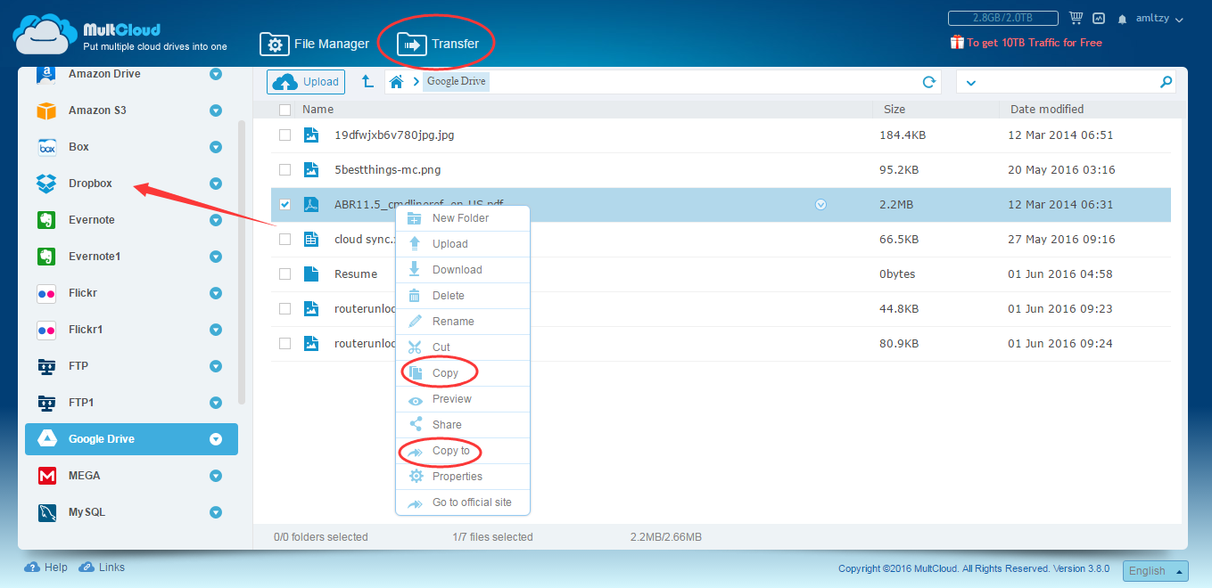 How to Transfer Files From Dropbox to Google Drive on iPad?