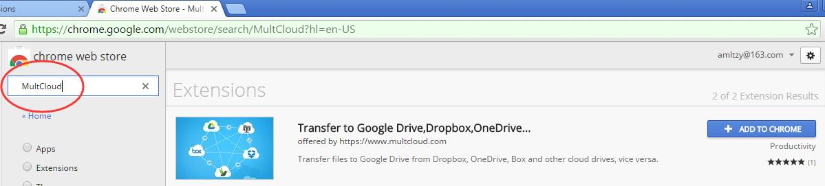 MultCloud's Google Chrome Extension, MultCloud's Google