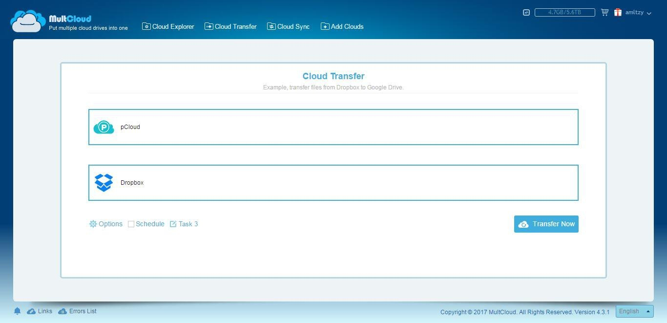 How to Transfer pCloud to Dropbox?