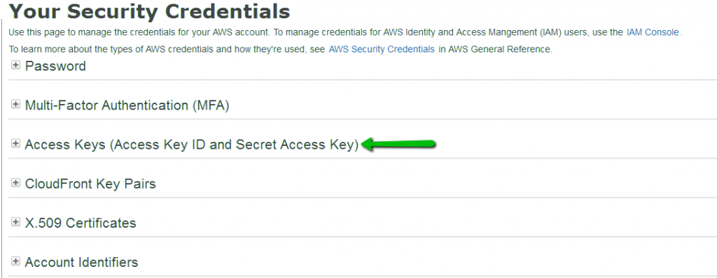 How to get your AWS Access Key ID and Secret Access Key