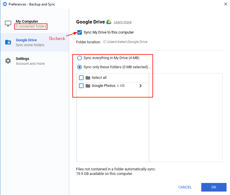 Stop Google Drive Sync | MultCloud