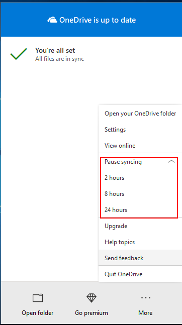 Solved: Disable/Cancel/Turn off/Stop OneDrive from Syncing