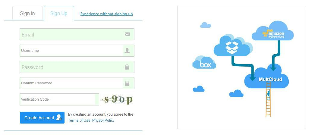 Sync OneDrive with Box via MultCloud