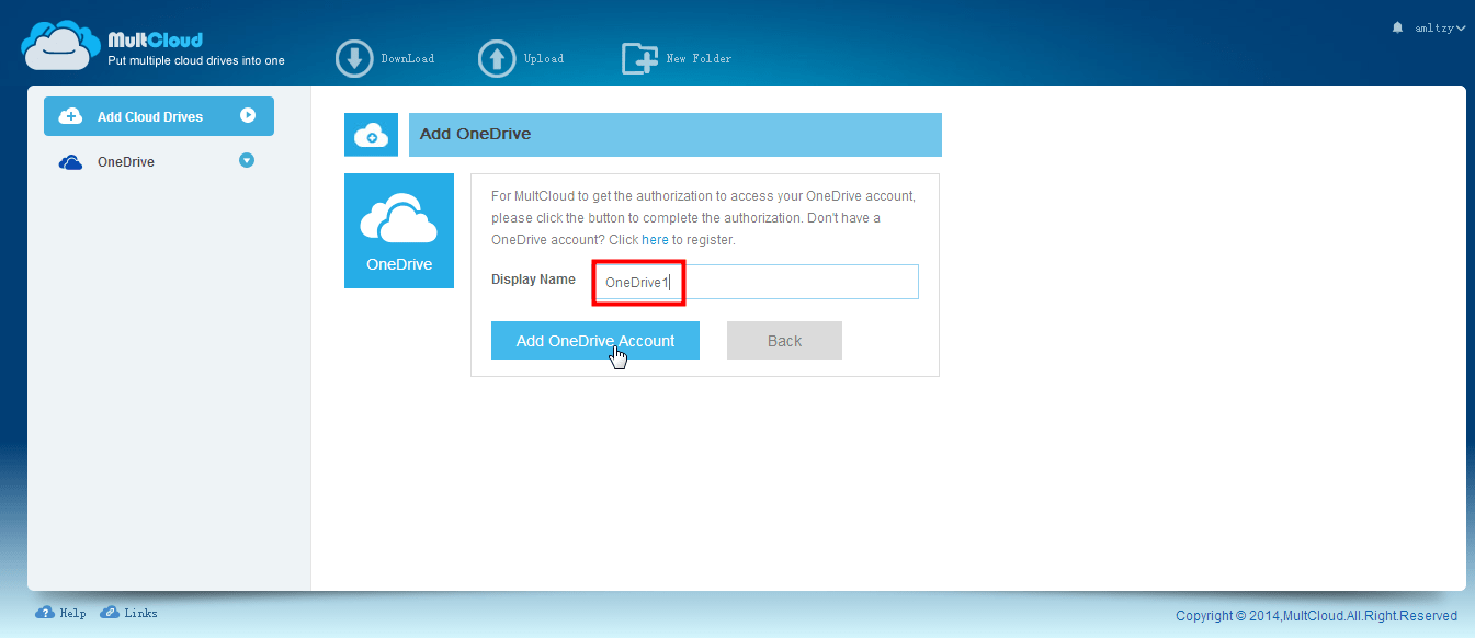 Transfer Files From One OneDrive Account to Another with MultCloud