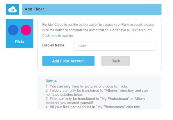 Move Copy Transfer Photos Between Two Flickr Accounts