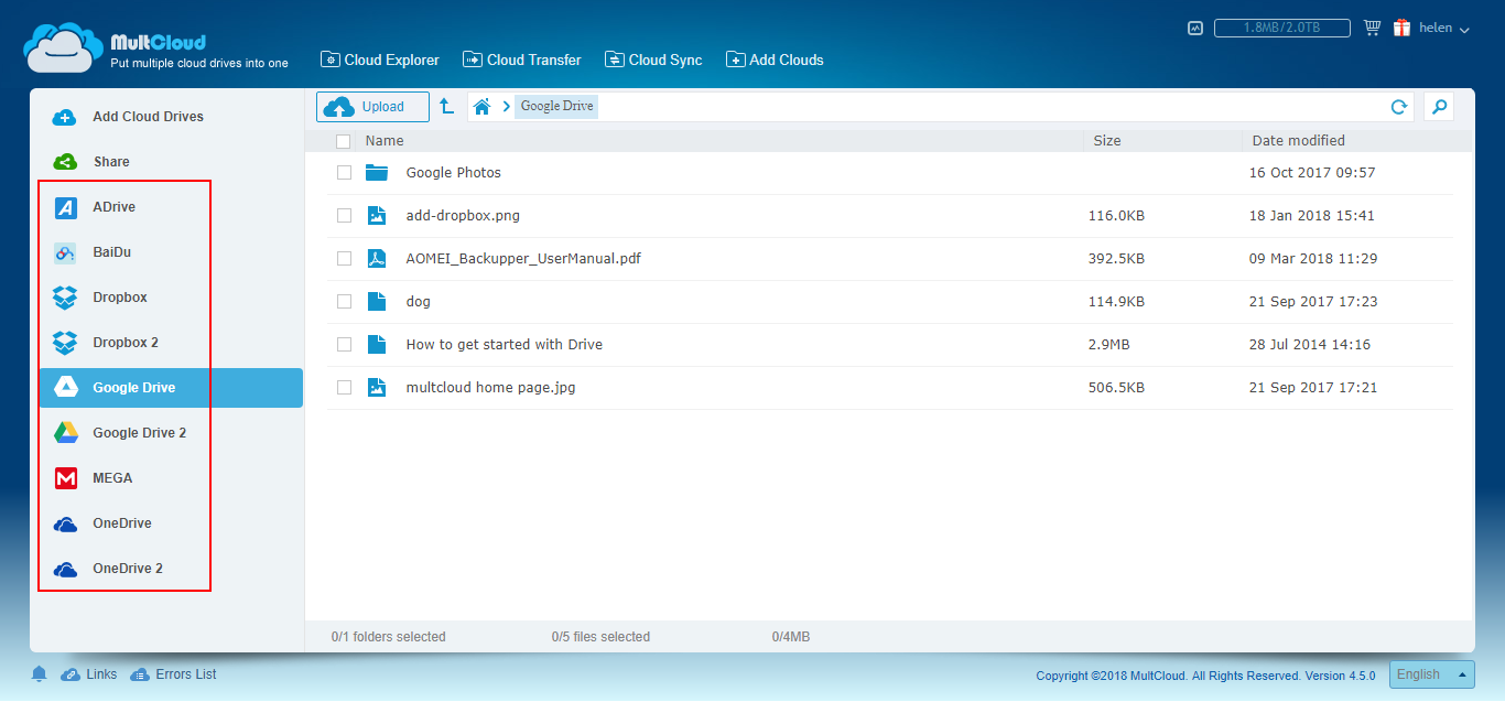 Free Automatic Cloud Backup Software for Windows 10/8/7